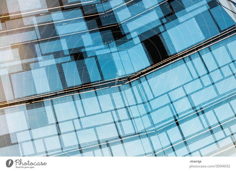 façade Style Design Building Architecture Facade Window Glass Line Uniqueness Modern Blue Black Esthetic Arrangement Future Colour photo Exterior shot Abstract