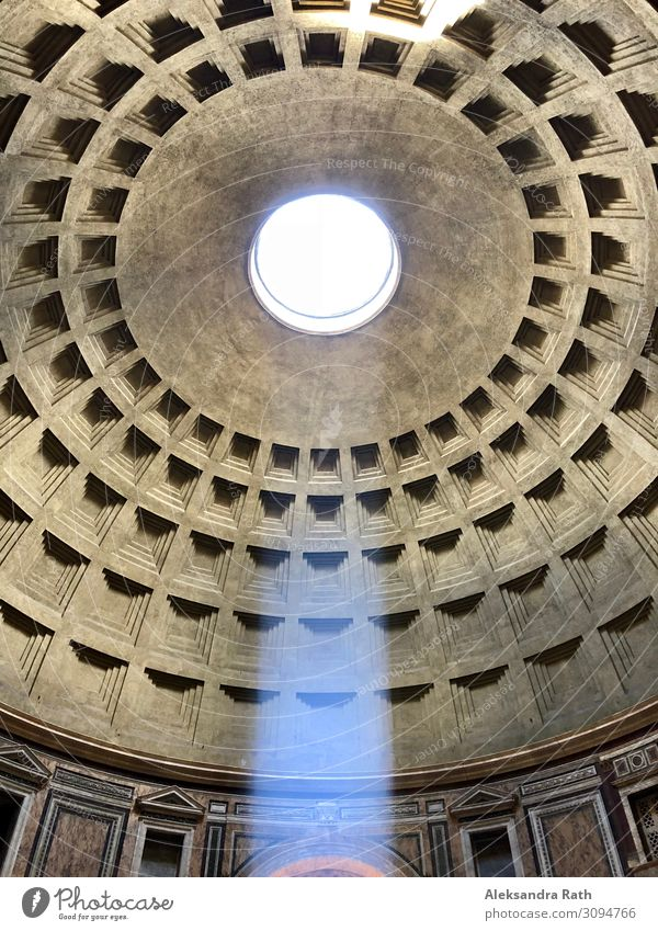 pantheon Museum Work of art Architecture Rome Pantheon Italy Europe Church Dome Manmade structures Building Tourist Attraction Landmark Monument Old Esthetic