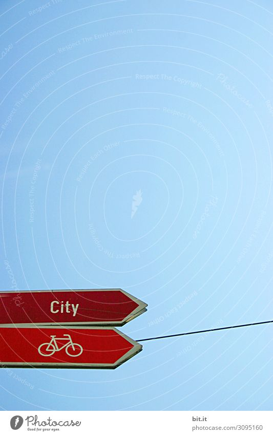 Street Transport Bicycle Signs and labeling Cycling Signage Target Traffic infrastructure Mobility Orientation Means of transport Road sign Warning sign