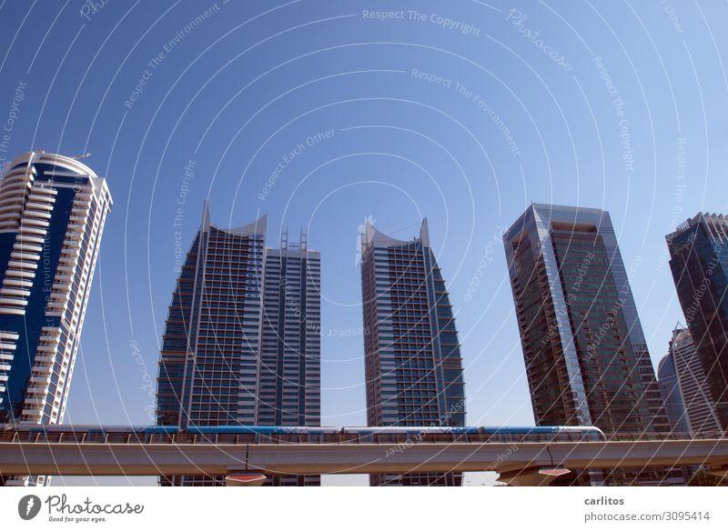 Architecture Tourism High-rise Underground Gigantic Dubai United Arab Emirates Mono rail