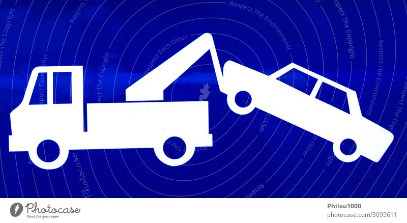 Close-up of a blue traffic sign for a suspended driver's license Design Business Park Transport Street Vehicle Car Driving White Caution Insurance assistance