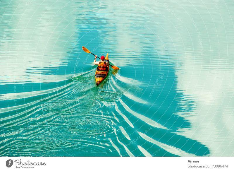 Human being Sky Water White Clouds Sports Freedom Lake Orange Leisure and hobbies Fresh Waves Power Adventure Energy Infinity