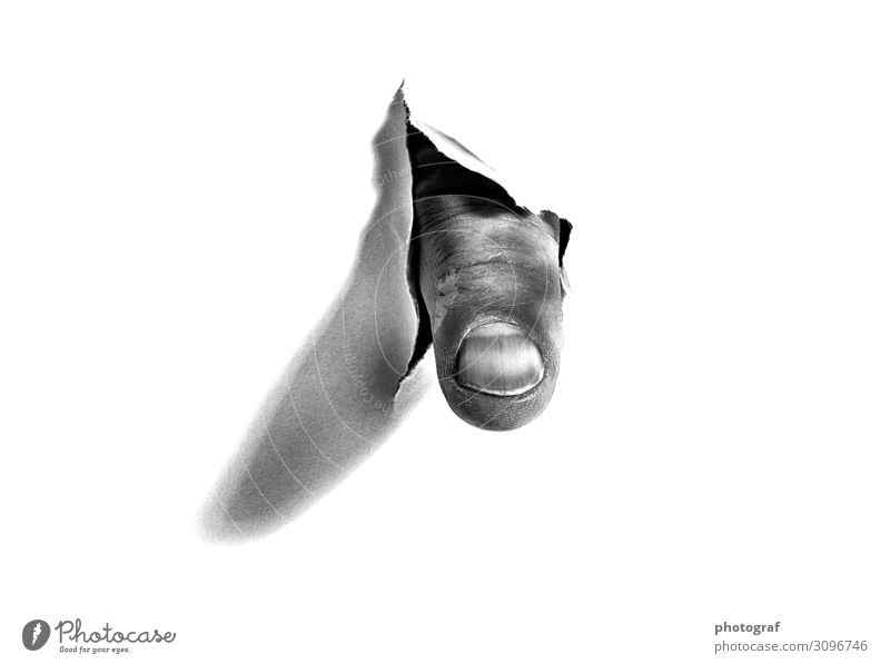 Finger through paper Human being Fingers Art Work of art Air Balloon Dream Exotic Black White Friendship Love Loyalty Romance Eroticism Beautiful Happy Blow