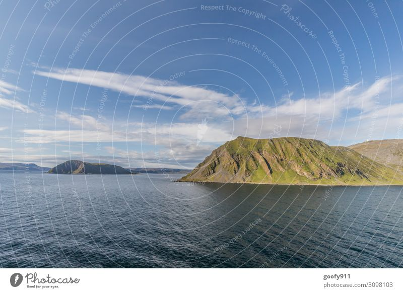 Norway's coast towards the North Cape Vacation & Travel Tourism Trip Adventure Far-off places Freedom Cruise Nature Landscape Water Sky Clouds Horizon Hill Rock