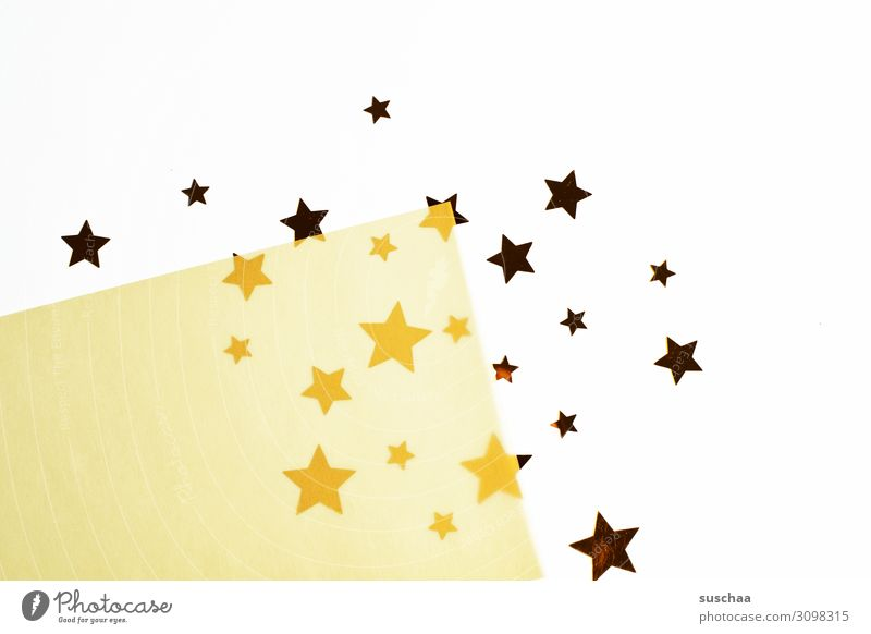 stars Star (Symbol) Many Christmas & Advent Symbols and metaphors Card Glittering Multicoloured Paper 2-ply transparent Colour difference Difference Simple