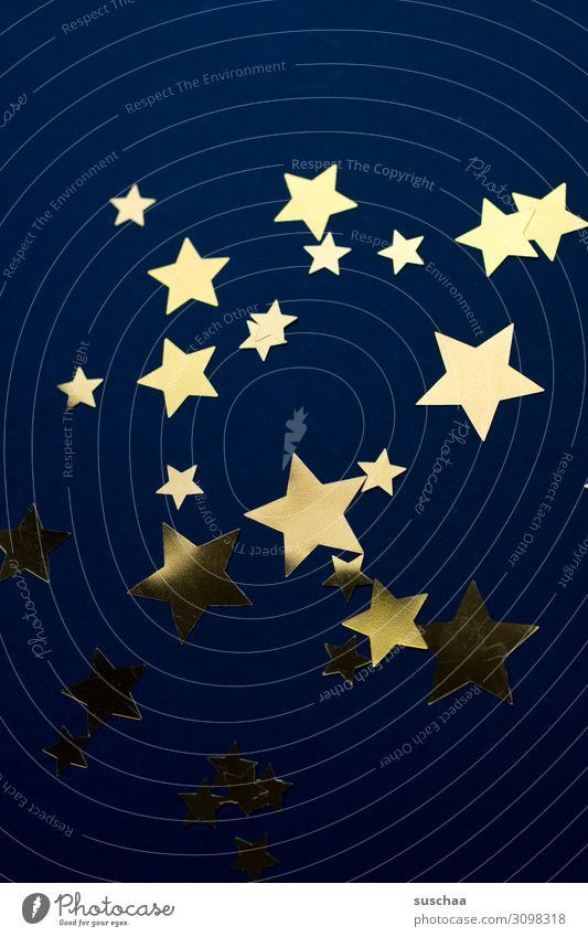 Christmas & Advent Dark Illuminate Star (Symbol) Symbols and metaphors Card Many Night sky Starry sky Dark background