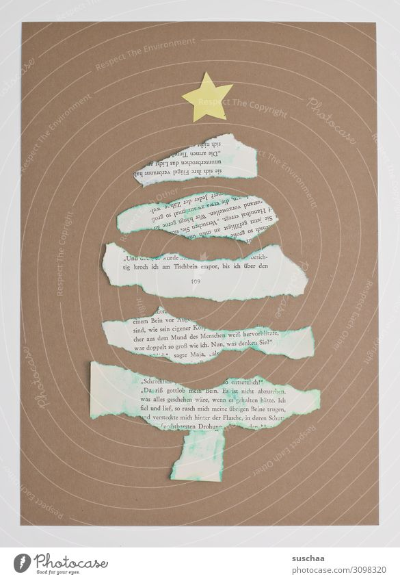 Christmas & Advent Star (Symbol) Paper Simple Card Christmas tree Handicraft Cardboard Torn