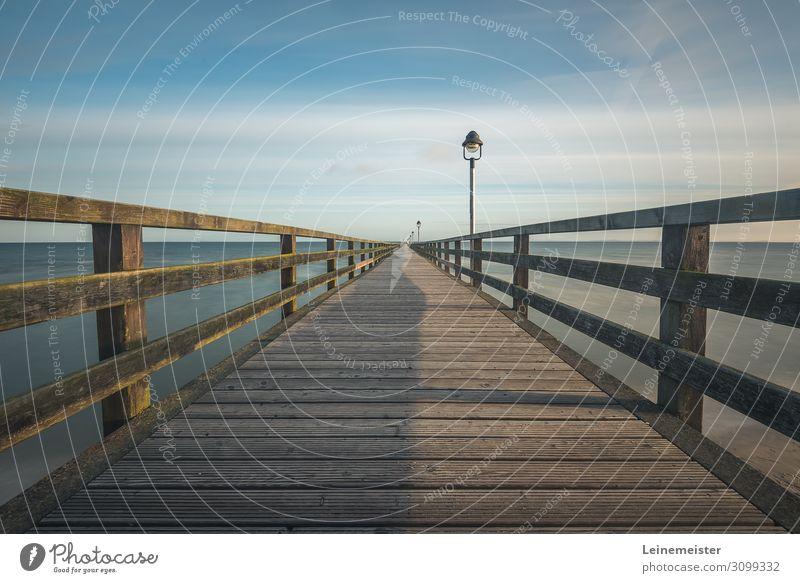 Lubmin pier Harmonious Swimming & Bathing Summer vacation Beach Ocean Beautiful weather Coast Baltic Sea Germany Europe Bridge Architecture Tourist Attraction