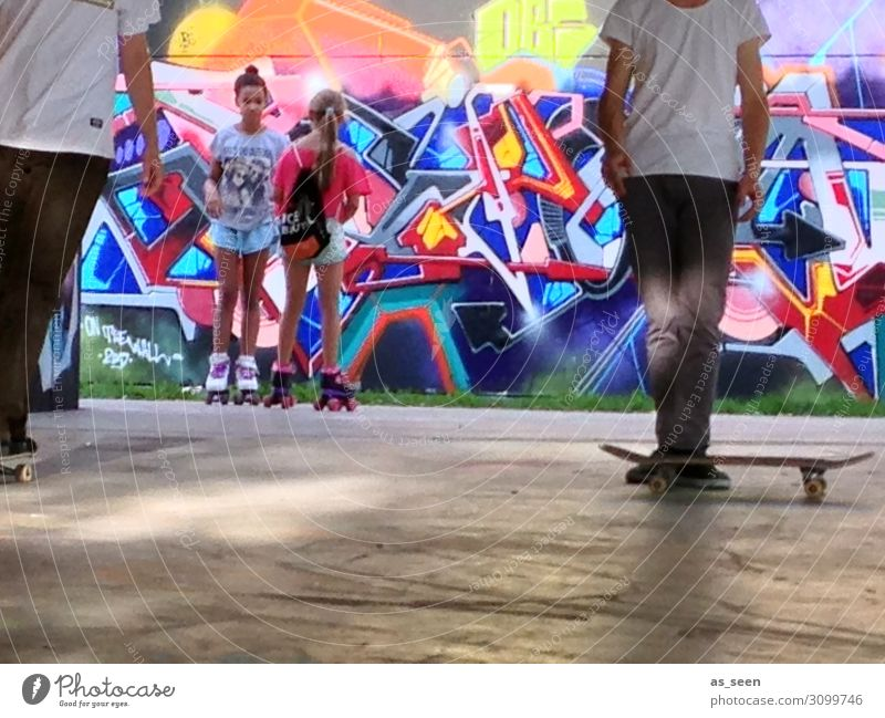 Youth (Young adults) Town Colour Joy Life Graffiti Yellow Wall (building) Sports Movement Wall (barrier) Facade 13 - 18 years Infancy Joie de vivre (Vitality)