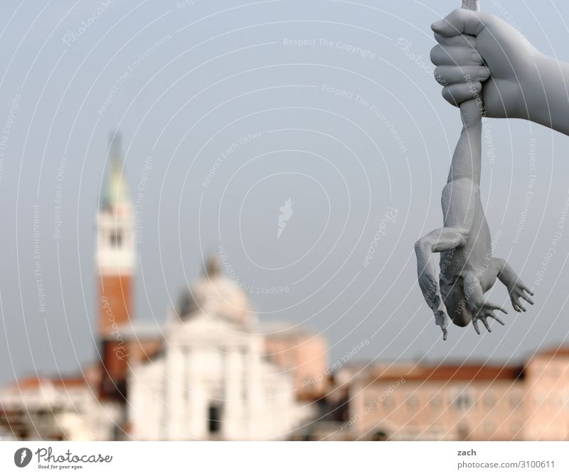 Vacation & Travel Hand Animal Gray Church Italy Tower Old town Sculpture Force Dome Work of art Aggression Frog Venice Palace