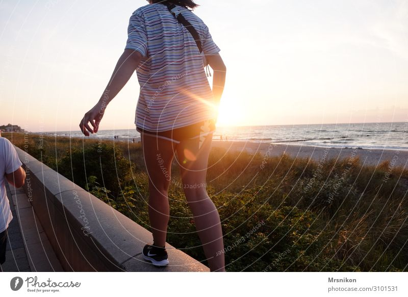 Human being Vacation & Travel Youth (Young adults) Young woman Summer Sun Ocean Joy Girl Far-off places Beach Life Natural Feminine Coast Happy