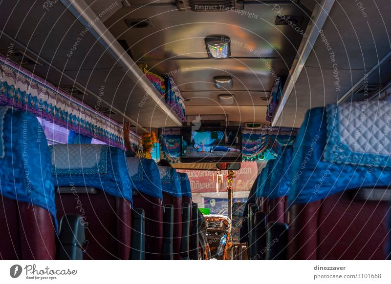 TV in bus, Laos Vacation & Travel Tourism Trip Music Technology Town Transport Street Vehicle Line Old Modern White Tradition Advertising Asia City asian tv