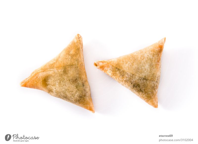 Samsa or samosas with meat and vegetables isolated Healthy Eating Food photograph Dish Vegetable Tradition Vegetarian diet Plate Dinner Meat Snack Lunch Baking