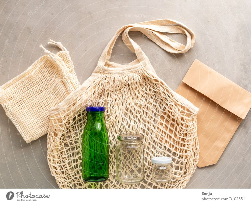 Healthy Lifestyle Environment Glass Beginning Shopping Paper Simple Hip & trendy Environmental protection Sustainability Paper bag Willpower Problem solving