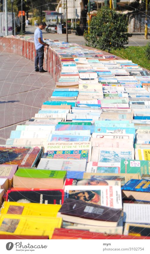 Flea market books sale on the street Book street sale Display library Sell browse Reading Library Novel Literature Education Know Reading matter