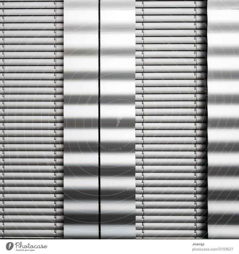 flickering Style Design Facade Metal Line Crazy Arrangement Irritation Background picture Illustration Black & white photo Exterior shot Close-up Abstract