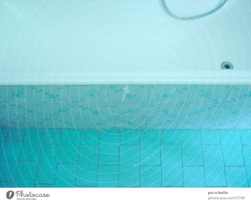 Blue Bathroom Tile Turquoise Bathtub Photographic technology