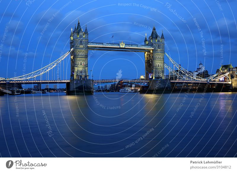 Tower Bridge London Vacation & Travel Tourism Sightseeing City trip Environment Nature Water Sky Clouds England Great Britain Europe Capital city