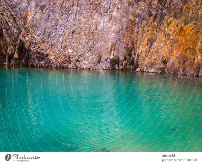 Turquoise water and rock texture Beautiful Vacation & Travel Tourism Summer Beach Ocean Island Nature Landscape Rock Lake Stone Blue Colour carballo coruna