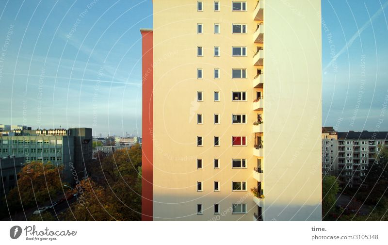 Sky Town House (Residential Structure) Window Architecture Life Wall (building) Berlin Time Wall (barrier) Exceptional Moody Design Horizon High-rise