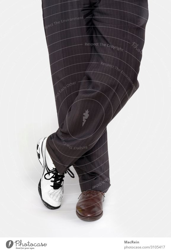 Work and leisure Human being Clothing Pants Sneakers Stripe White Workwear Legs Leg Clothing Occupations Workwear Be