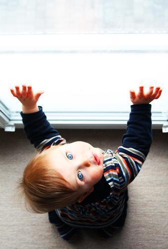 Child Beautiful Hand Window Face Eyes Adults Love Family & Relations Boy (child) Small Hair and hairstyles Head Contentment Body Infancy