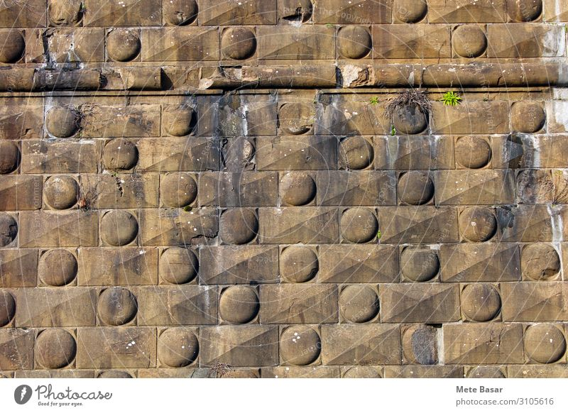 Fortress wall detail from Florence, Italy. Europe Castle Architecture Wall (barrier) Wall (building) Landmark Stone Old Esthetic Sustainability Strong Town