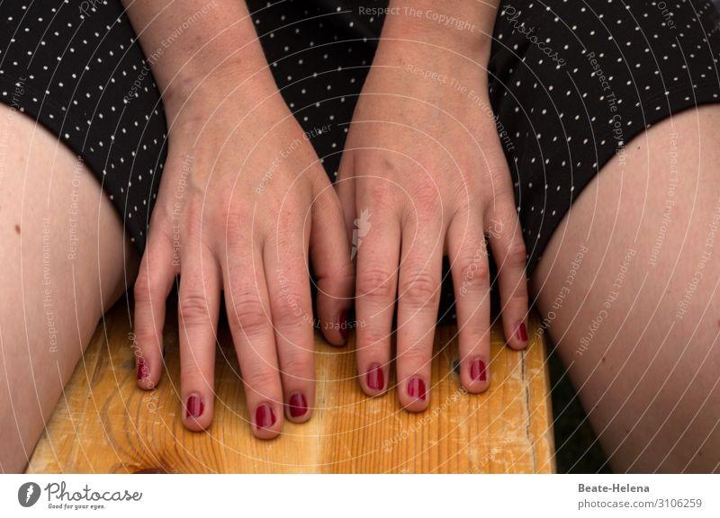 Hands - styling Beautiful Feminine Fingers Dress Nail polish Sign Select Observe Blossoming Glittering To enjoy Illuminate Playing Esthetic Authentic Elegant