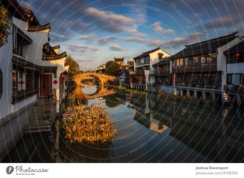 Qibao Ancient Town Vacation & Travel Tourism Sightseeing City trip River Old town Bridge Authentic arch Asia asia travel bridge arch canal China