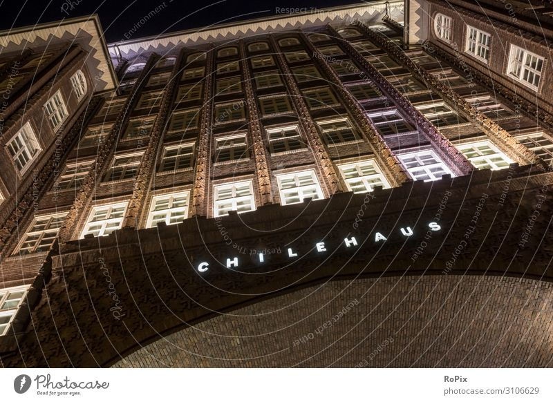 Chilehaus in Hanmburg. Lifestyle Design Vacation & Travel Tourism Sightseeing City trip House (Residential Structure) Work and employment Office work Workplace