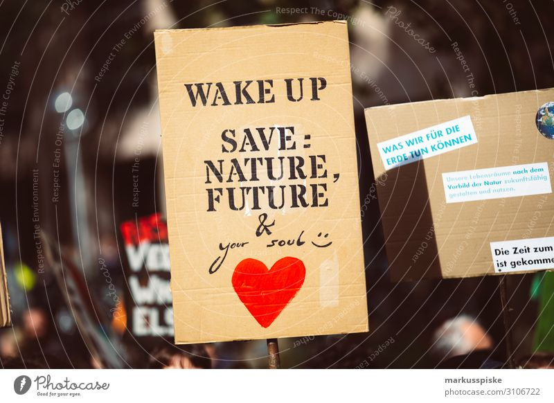 Wake up - save nature, future & your soul Child University & College student Disaster Peace Global Climate Mobilisation Global Climate Strike activist appeal