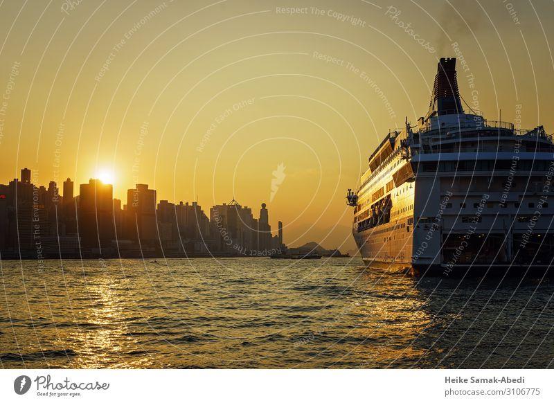 Sky Vacation & Travel Water Ocean Coast Tourism Waves Adventure Skyline Harbour Capital city City trip Navigation Port City Cruise Hongkong
