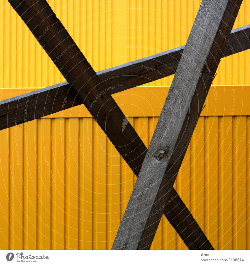 bar ballet Workplace Construction site Craft (trade) Container Joist Wood Metal Line Stripe Network Brown Yellow Safety Protection Disciplined Endurance
