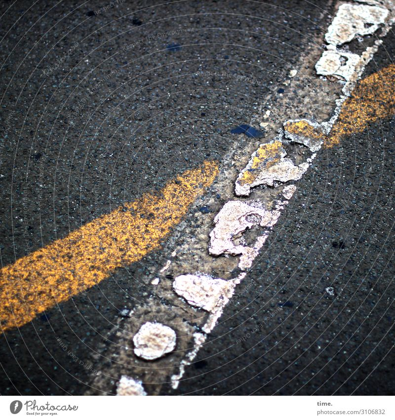 baselines (9) Baseline Street Asphalt Gray Yellow Bird's-eye view White Stripe worn-out Tar Mathematics Design