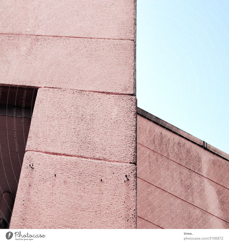 statement Sky Beautiful weather Hamburg House (Residential Structure) Manmade structures Building Architecture Wall (barrier) Wall (building) Facade Concrete