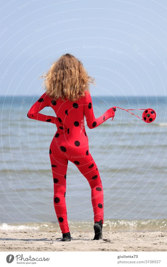 valuable Ladybugs Miraculous (Insider) Young woman Youth (Young adults) Life 1 Human being 13 - 18 years Summer Beautiful weather Coast Beach Ocean Fashion