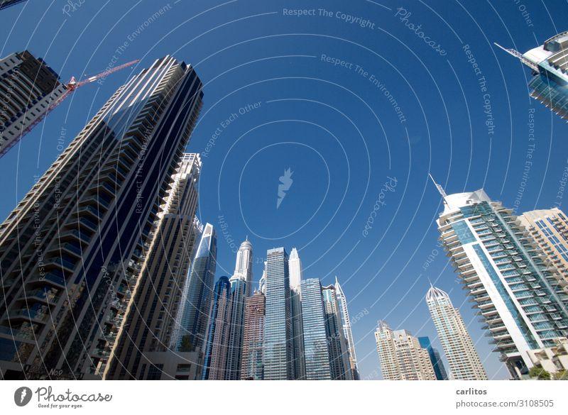 Sky Blue Facade High-rise Money Tilt City Near and Middle East Dubai United Arab Emirates Economic growth