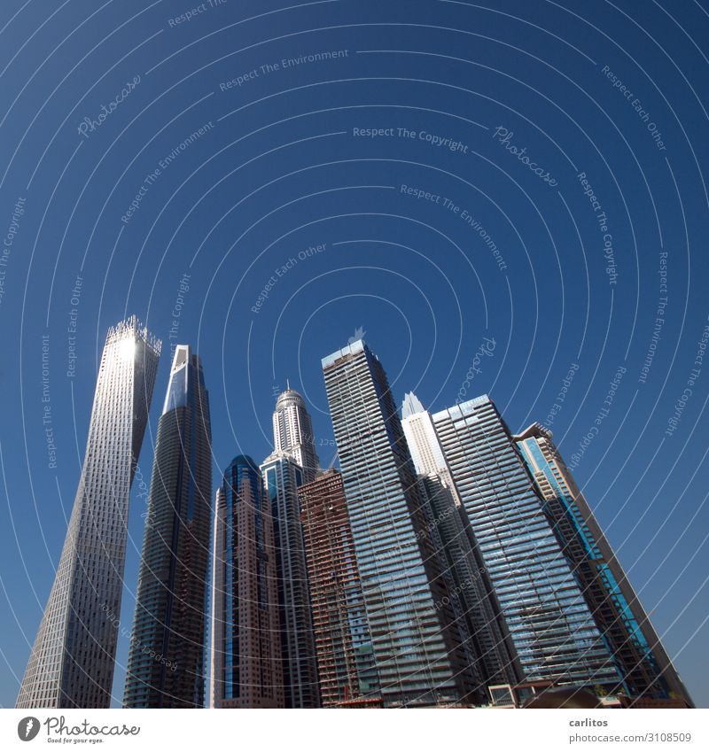 Architecture High-rise Money City Gigantic Dubai United Arab Emirates Economic growth