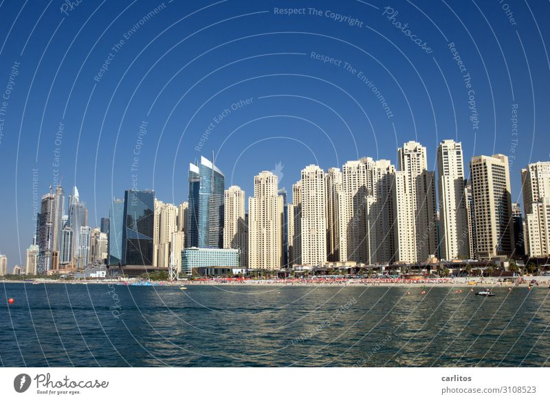 Beach Tourism High-rise Threat Skyline Narrow Near and Middle East Dubai United Arab Emirates Economic miracle