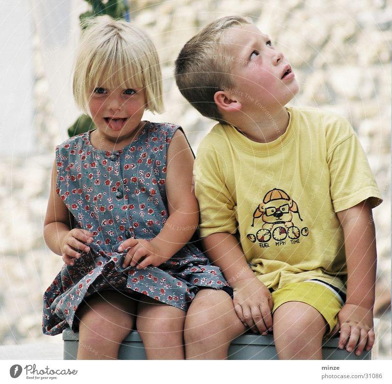 Child Joy Playing Friendship