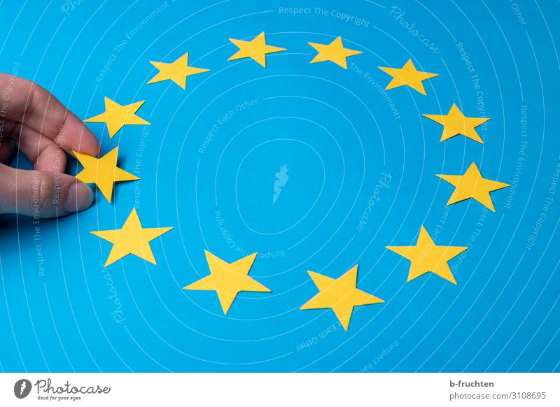 there were only ... Economy Business Fingers Sign Select Touch Movement To hold on Blue Yellow Flag European flag Star (Symbol) 12 11 Few Exclude brexite