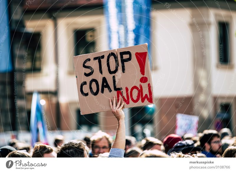 Stop coal now! Education Science & Research Adult Education Protest Demonstration Friday for Future greta thunberg Human being Group Environment Nature Climate