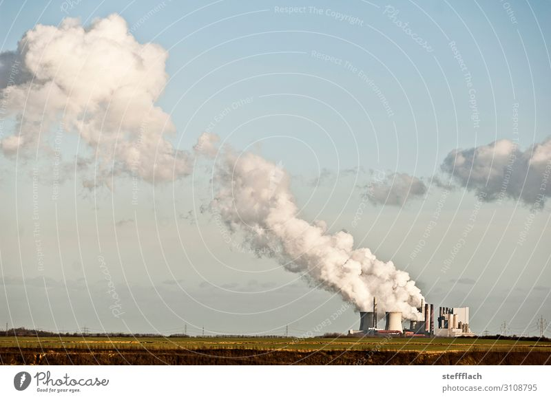 RWE Neurath power station Factory Economy Energy industry Coal power station Industry Nature Landscape Elements Sky Clouds Climate Climate change