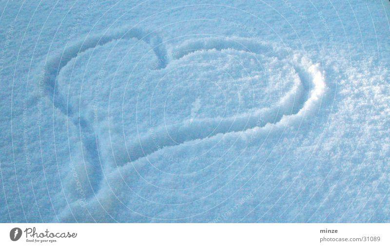 White Blue Love Snow Heart