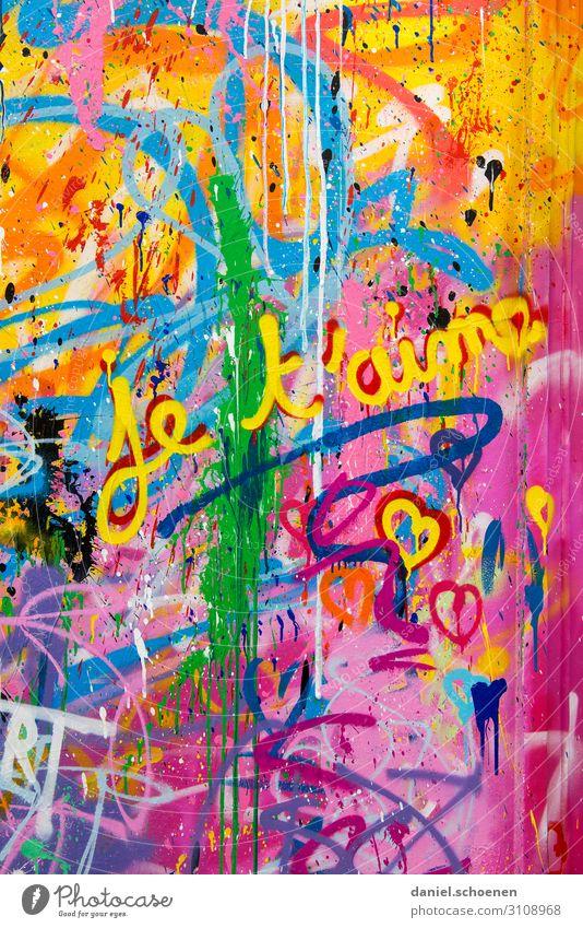 Blue Colour Green Red Joy Graffiti Yellow Love Emotions Happy Art Orange Facade Pink Characters Heart