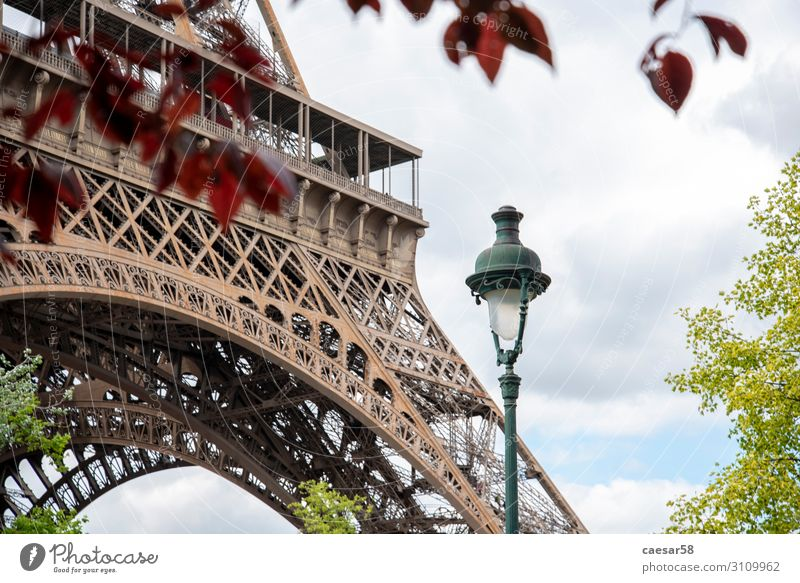 Street lamp at the Eifel Tower Paris France Europe Old town Eiffel Tower Vacation & Travel Brown Red Love Romance Beautiful Street lighting Lantern 1900