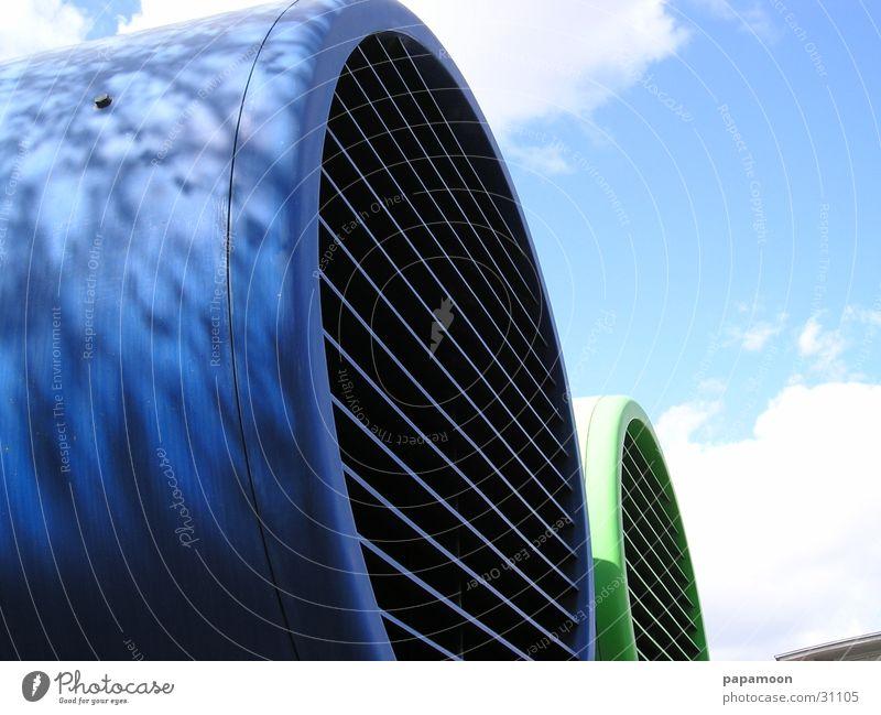 Green Blue Industry Chimney Grating Disk Fan