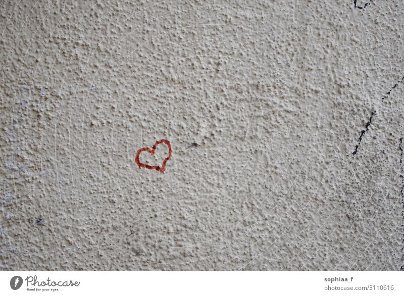 Love on the wall, red heart Sign Heart Red Emotions Happy Contentment Optimism Power Acceptance Trust Sympathy Friendship Together Infatuation Loyalty Romance