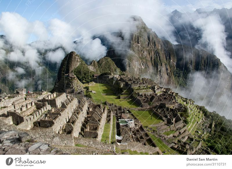 Machu Picchu, a Peruvian Historical Sanctuary Vacation & Travel Nature Old Green Landscape Clouds Forest Mountain Street Architecture Natural Tourism Stone