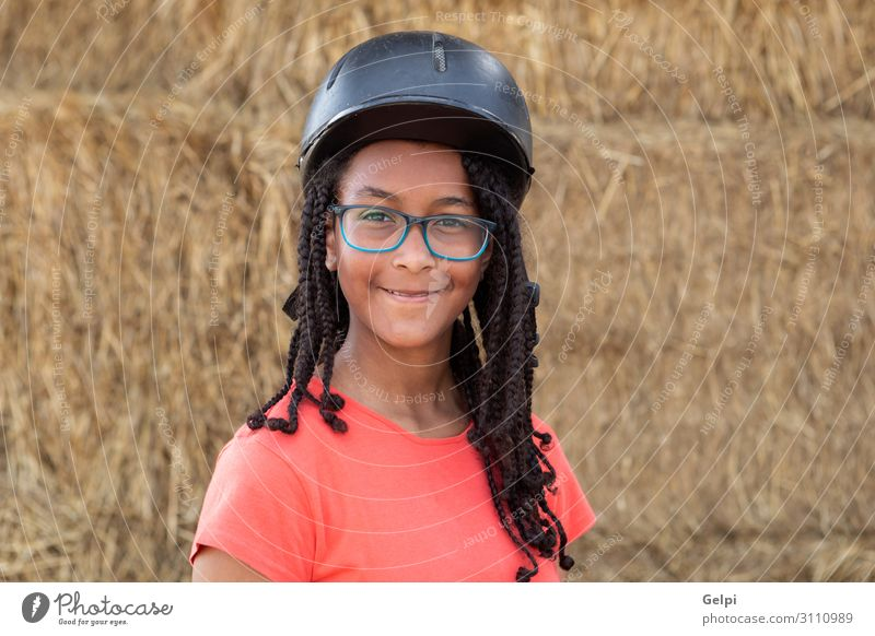 Beautiful teenager with helmet to learning to ride Lifestyle Happy Leisure and hobbies Vacation & Travel Summer School Woman Adults Landscape Smiling Stand Red